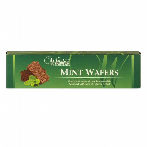 Mint Wafers - Dark Chocolate  Crispy Thins Whitakers Chocolates Box